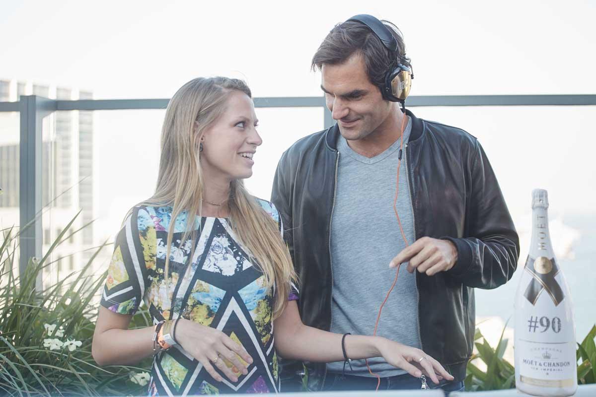 2 Moetmoment Miami 2017 Roger Federer and DJ Nora En Pure- credit Vivien Lavau