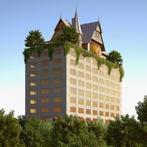 Surrealistický hotel Hilton od Philippa Starcka