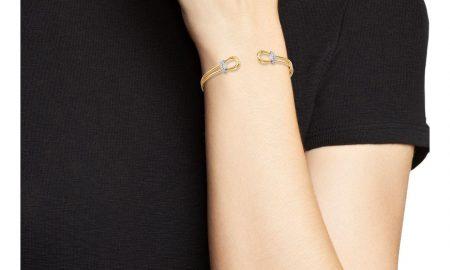 roberto-coin-Yw-18k-White-Yellow-Gold-Classic-Parisienne-Diamond-Open-Cuff