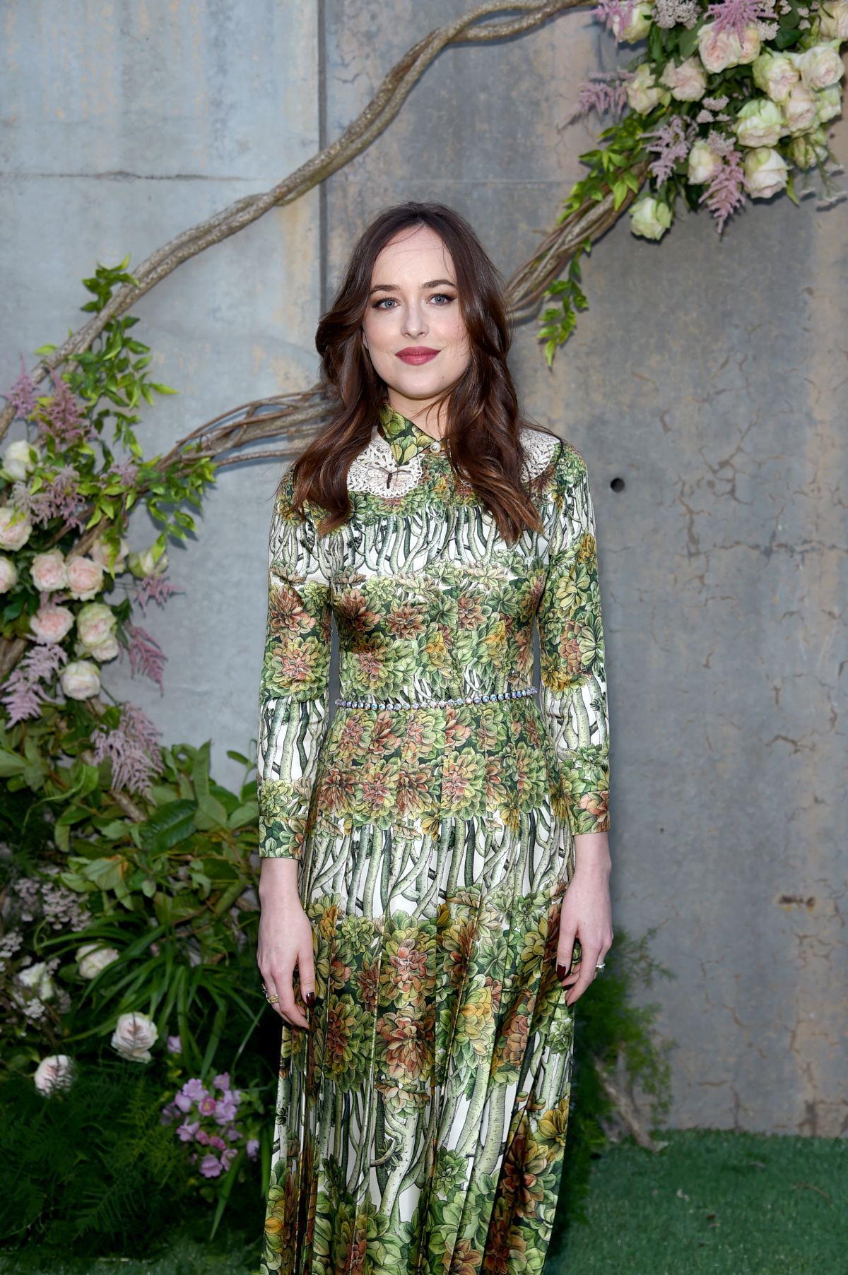 NEW YORK, NY - MAY 02: Dakota Johnson attends the Gucci Bloom, Fragrance Launch Event at MoMA PS.1 on May 2, 2017 in New York City. (Photo by Jamie McCarthy/Getty Images for Gucci)