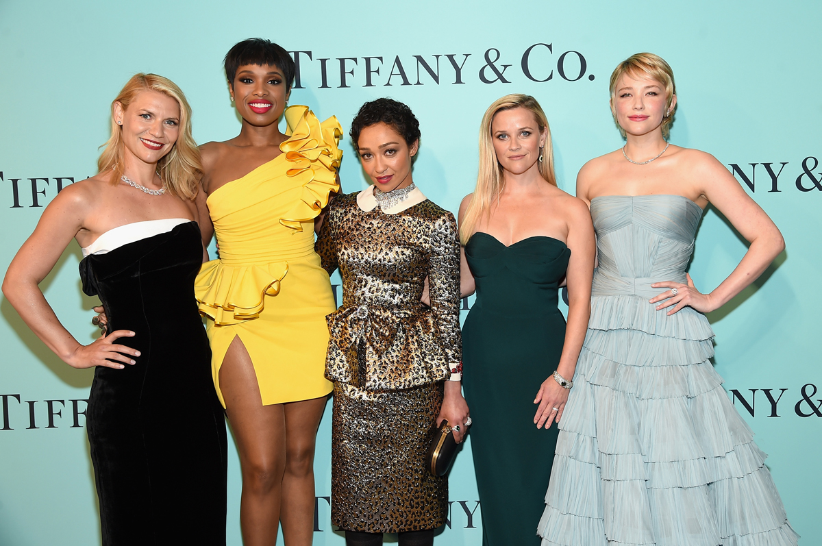 NEW YORK, NY - APRIL 21:  (L-R) Claire Danes, Jennifer Hudson, Ruth Negga, Reese Witherspoon, and Haley Bennett attend the Tiffany & Co. 2017 Blue Book Collection Gala at ST. Ann's Warehouse on April 21, 2017 in New York City.  (Photo by Jamie McCarthy/Getty Images for Tiffany & Co.)