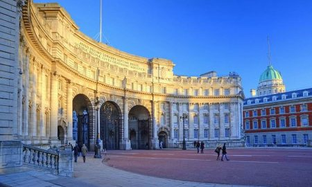 Admiralty Arch which is a large office building designed by Sir Aston Webb and completed in 1912.
