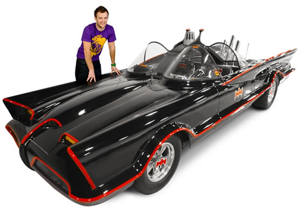Adam West a Batmobile
