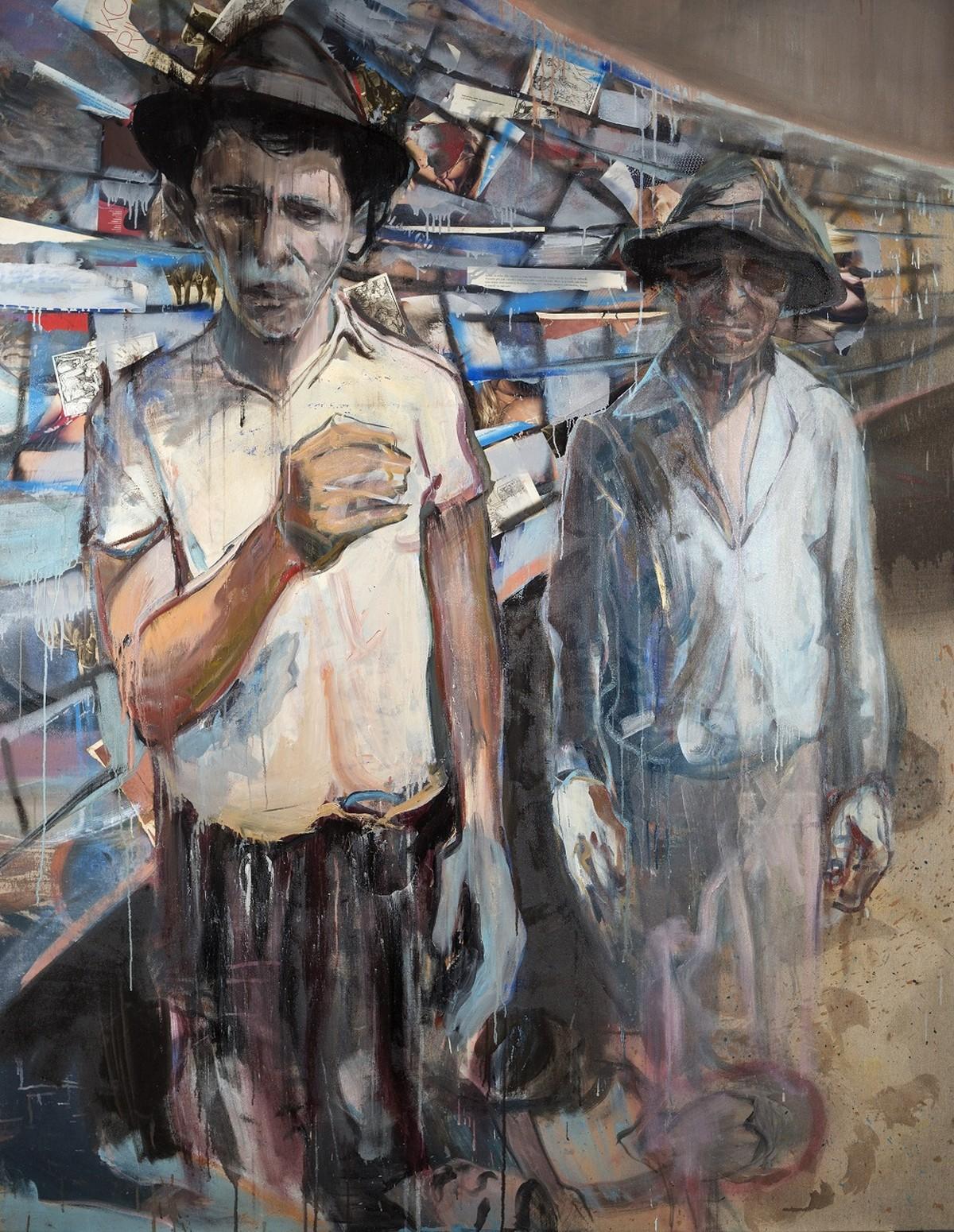 Bez názvu Untitled 150 x 200 cm kombinovaná technika na plátně mixed media on canvas 2015