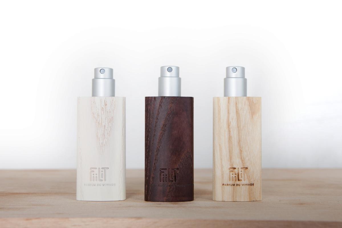 Collection Eau de parfum FiiLiT Parfum du voyage Cyclades 38°3'N - Cuba 19°9'N - Bali 8°7'S