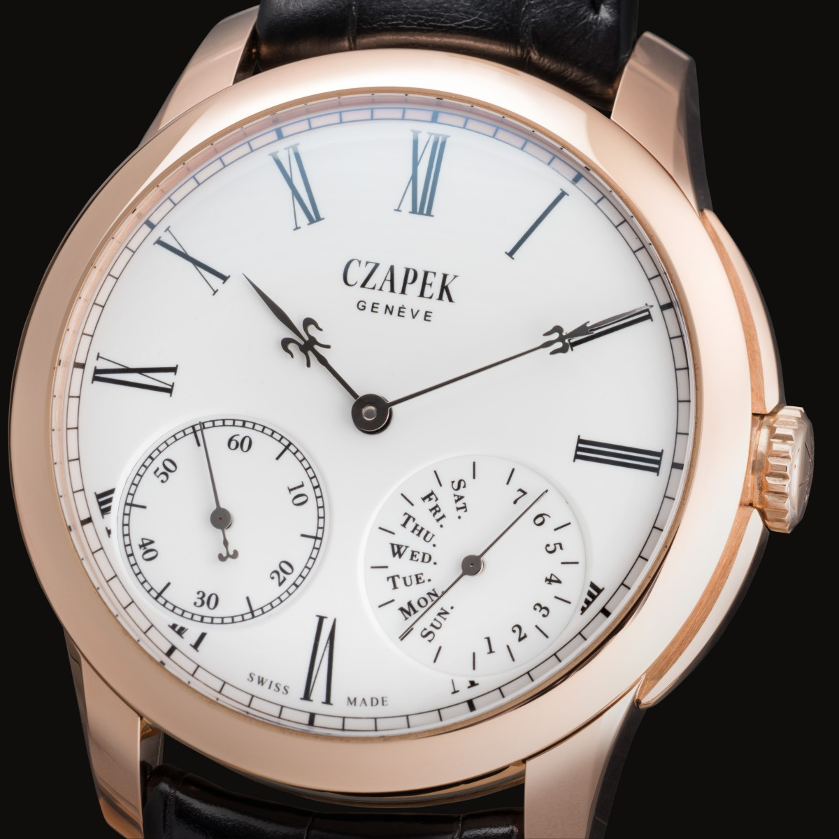 Czapek QdB N°33 lys or noir dial