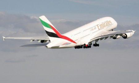 Emirates A380 A6-EDE departs Birmingham (BHX) for Dubai on EK040 on 9 Sep 2009.