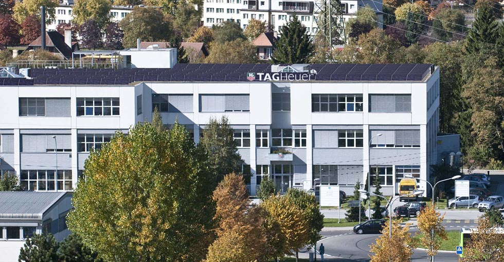 Střecha továrny TAG Heuer