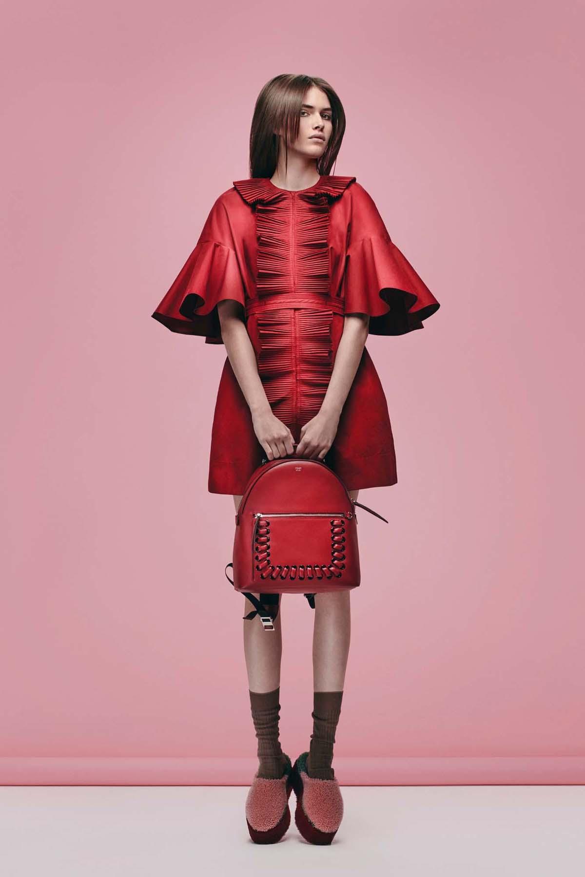 Fendi-Red-Interlaced-Backpack-Bag-Pre-Fall-2016