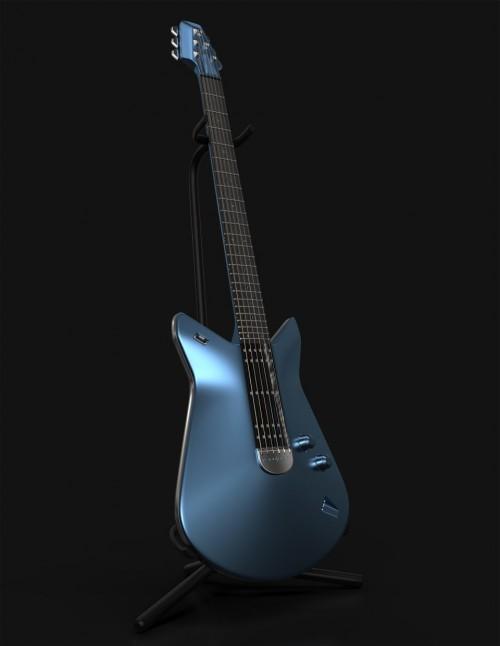 Ford na Salone del Mobile_kytara inspirovaná modelem Ford GT