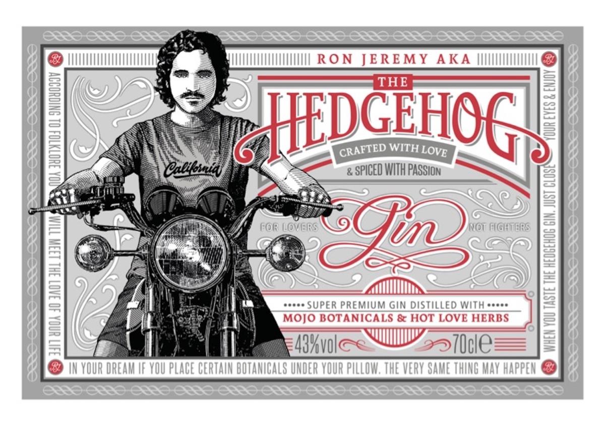 Hedgehog Gin, etiketa jpg