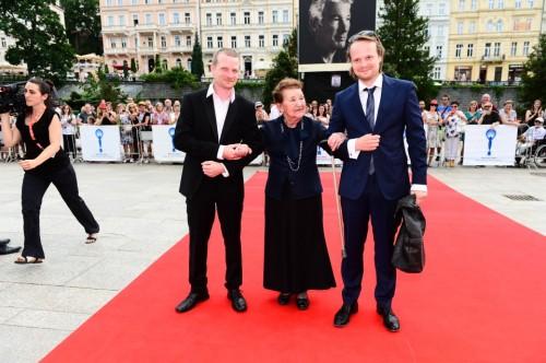 Kryštof Hádek a Matěj Hádek v Pietro Filipi při premiéře filmu Kobry a U
