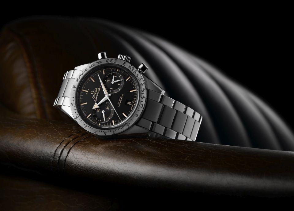 OMEGA Speedmaster57 s ocelovým náramkem cena 202 500 Kč SP_Speedmaster57_331.10.42.51.01.002
