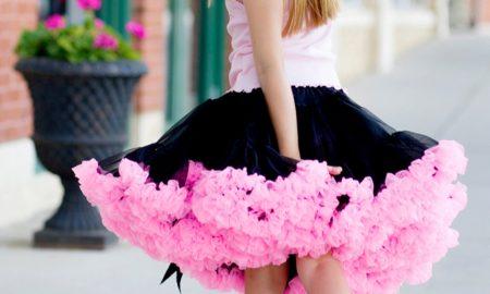 Oopsy Daisy Baby black hot pink pettiskirt