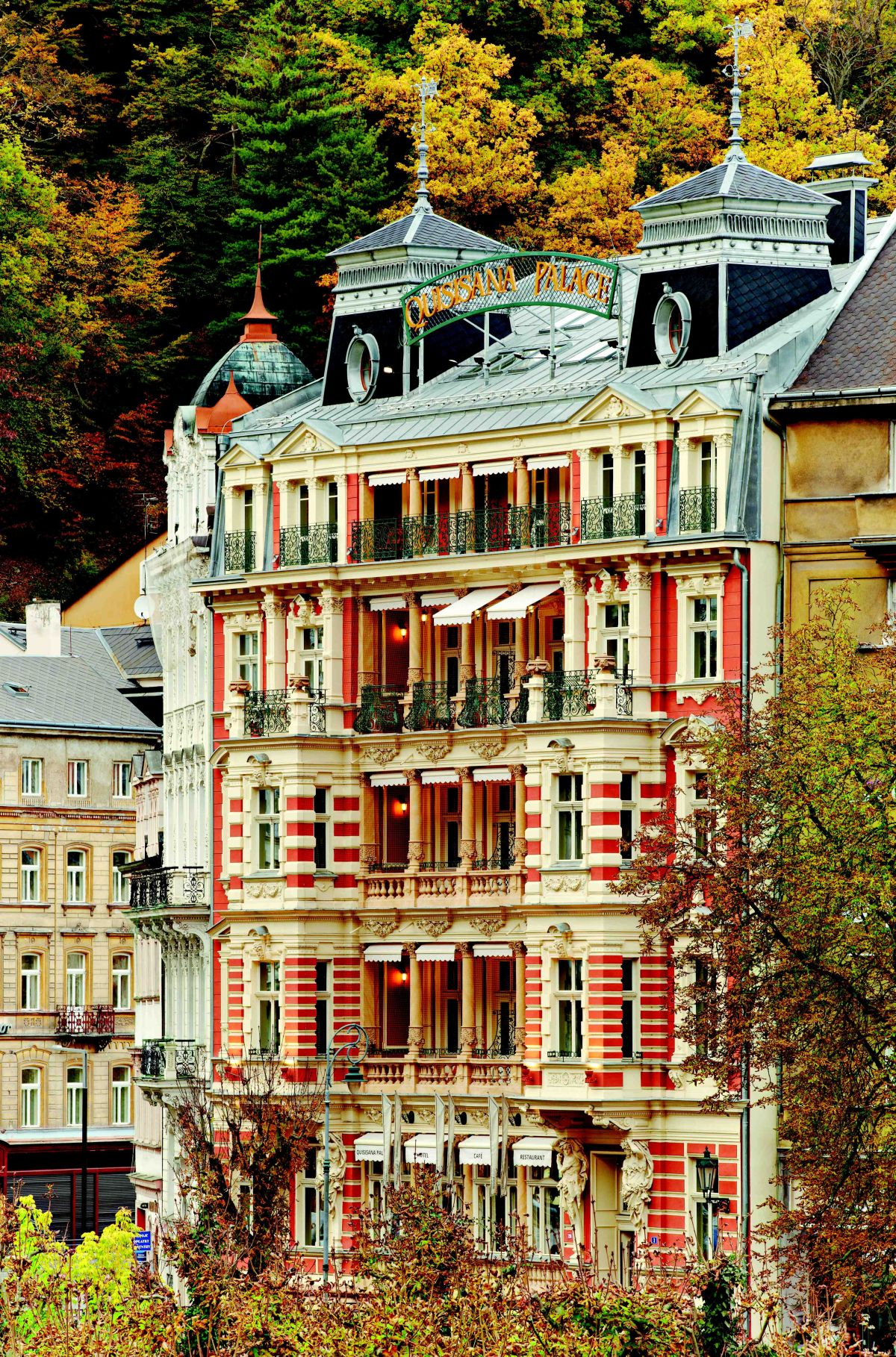 Quisisana Palace, Karlovy Vary, Czech Republic, European Union, facade, Fassade, Herbst 2012, Autumn, Fall, autumnal