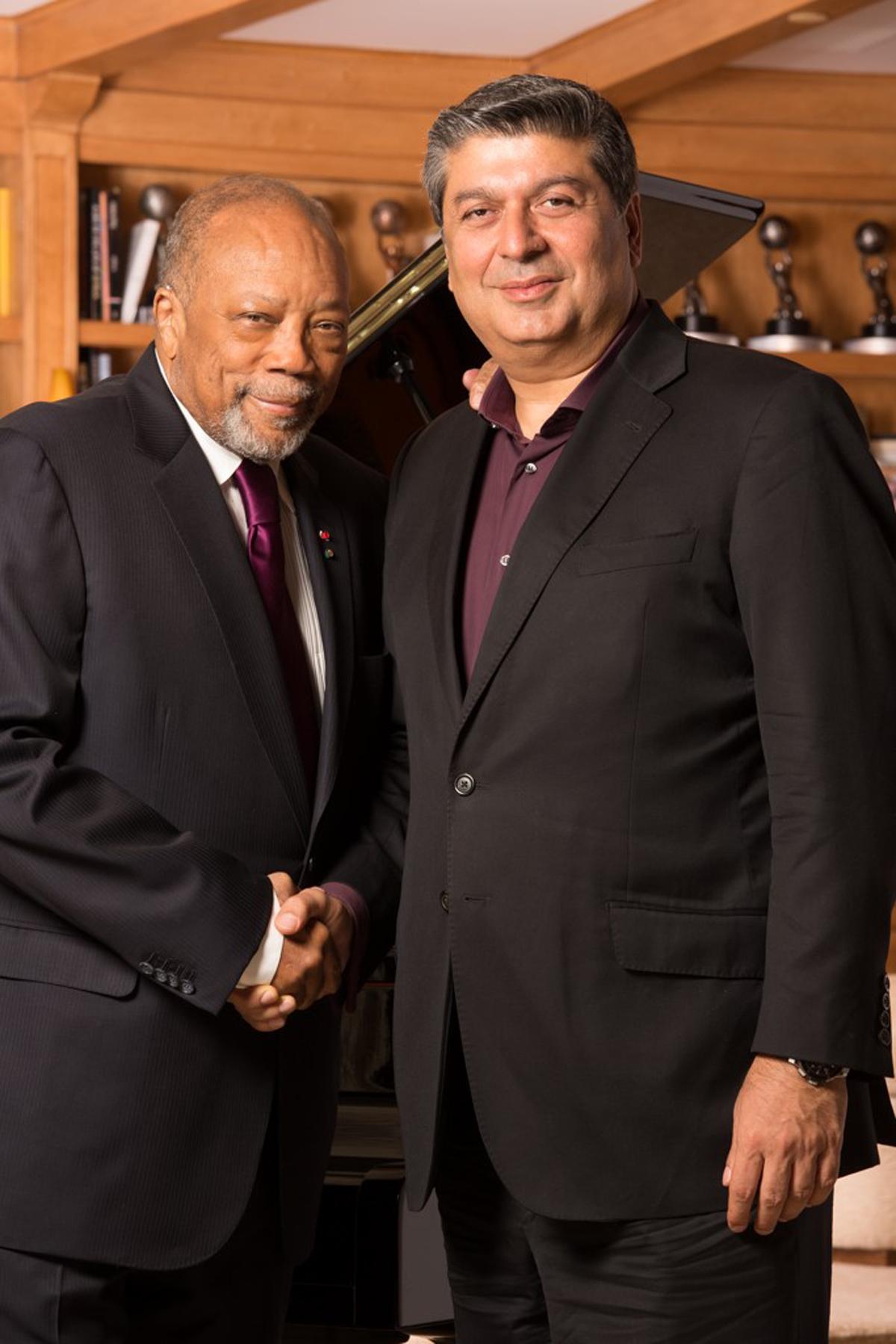 Quincy Jones and Raza Jafar