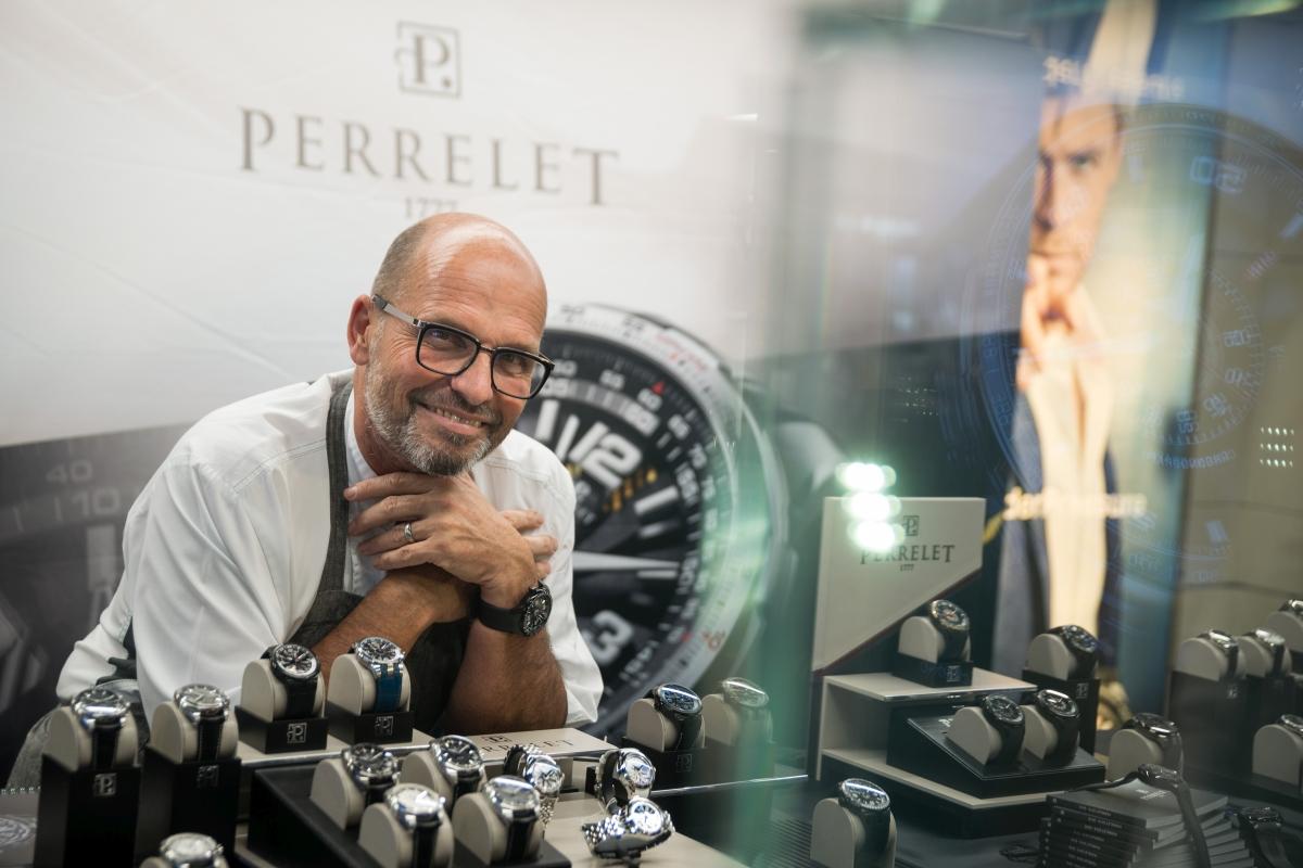 P ředstavení hodinek Perrelet - Koscom, Praha 4.řijna 2017