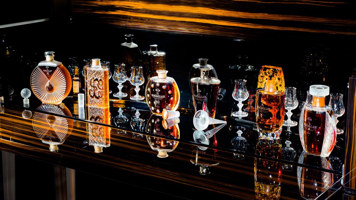 The Macallan Six Pillars collection in Lalique (2)