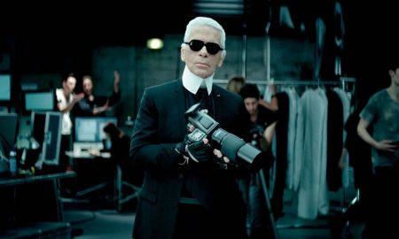 Lagerfeld při focení kampaně Volkswagenu