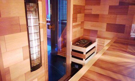 Luxusní kombinovaná sauna z cedrového dřeva, vyrábí SaunaSystem