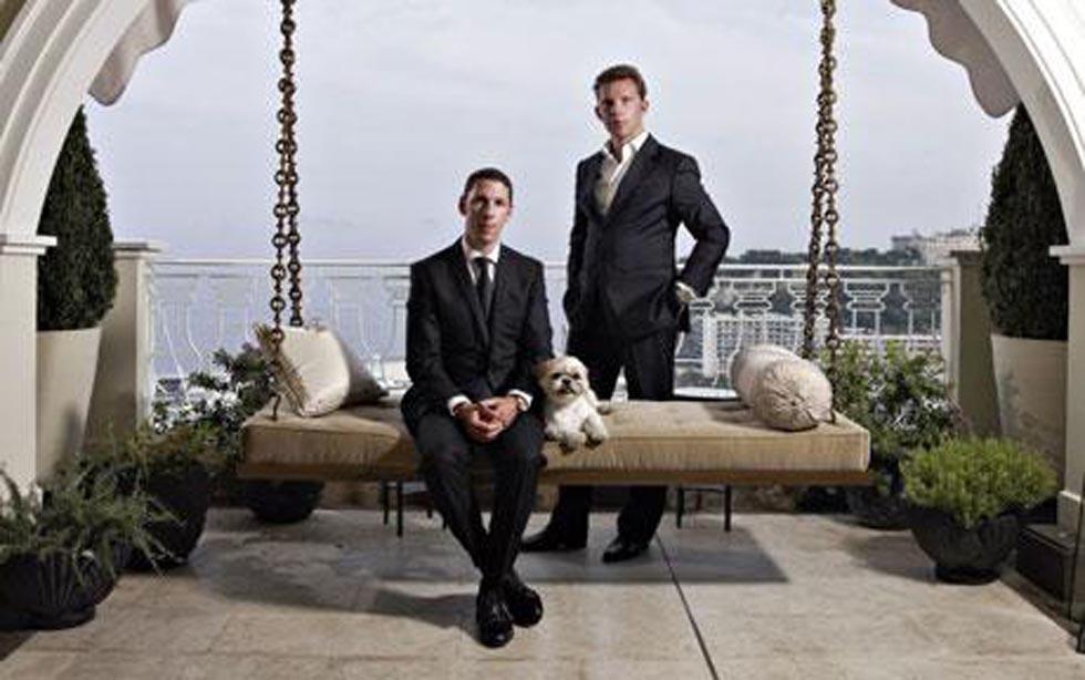Vlevo Nick, vpravo Christian Candyovi, autoři developerského projektu.